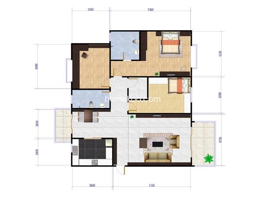 3室2厅2卫 128�O