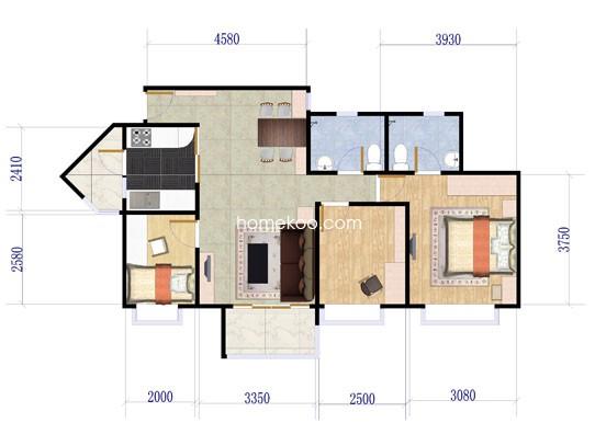 3室2厅2卫 99�O