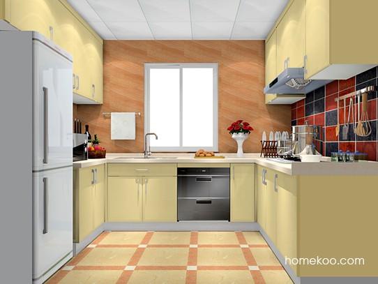 6㎡平窗1扇门厨房