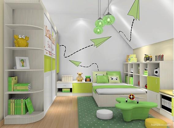 【家居在线】儿童房装修效果图2014