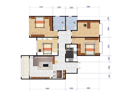 4室2厅2卫 141.15�O