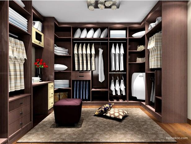 卧室衣帽间效果图3D图片