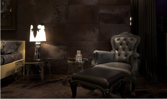 黑色真皮沙发图片欣赏