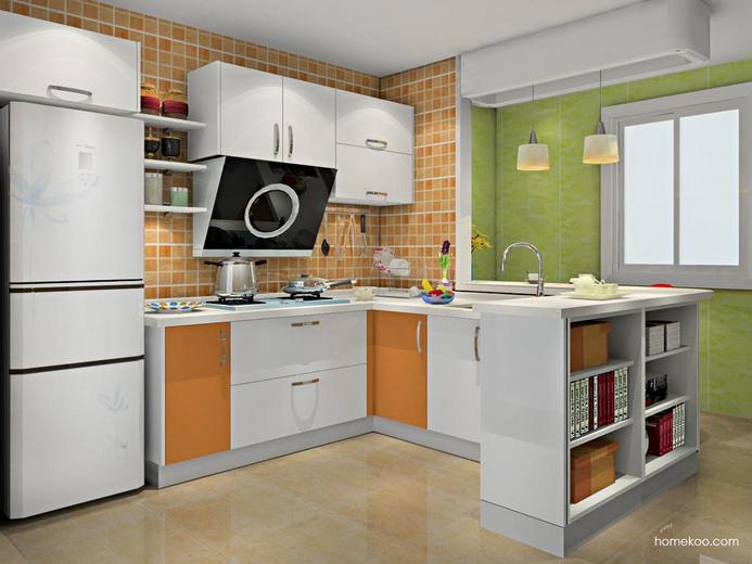 厨房装修效果图简单大方功能实用大全