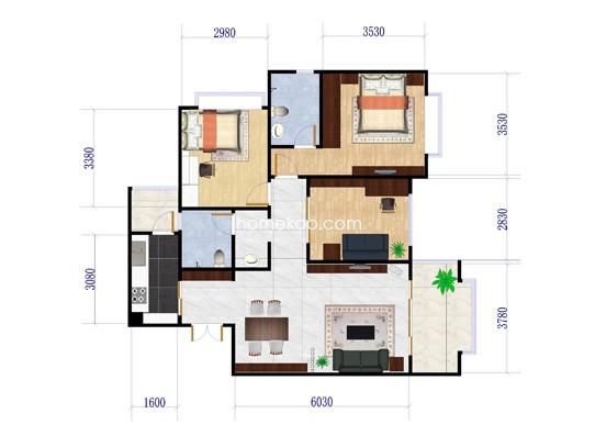 B1三房两厅