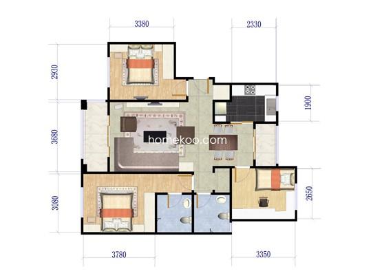 D6三房两厅 116.59�O