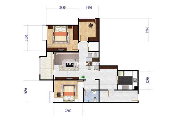 三房两厅户型