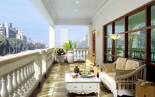 田园风格的阳台装修特点