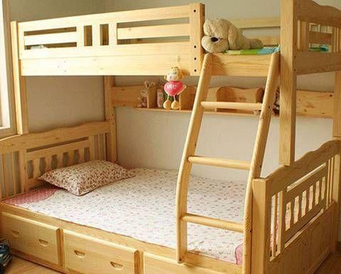 1.5米实木双层床