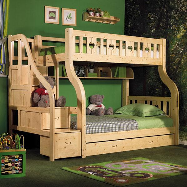 松木双层床价格