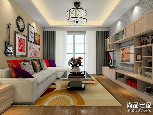 简单的壁纸电视背景墙什么颜色好