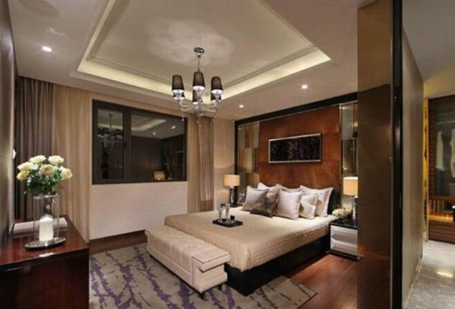 正方形卧室吊顶的形式美