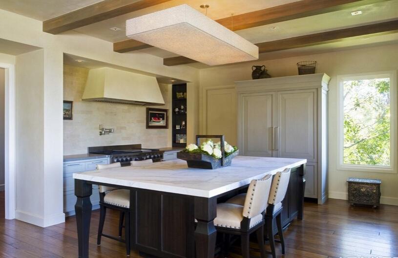 田园风格厨房吊顶在装修中的效果
