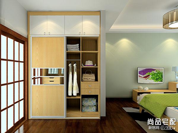 卧室开放式衣柜