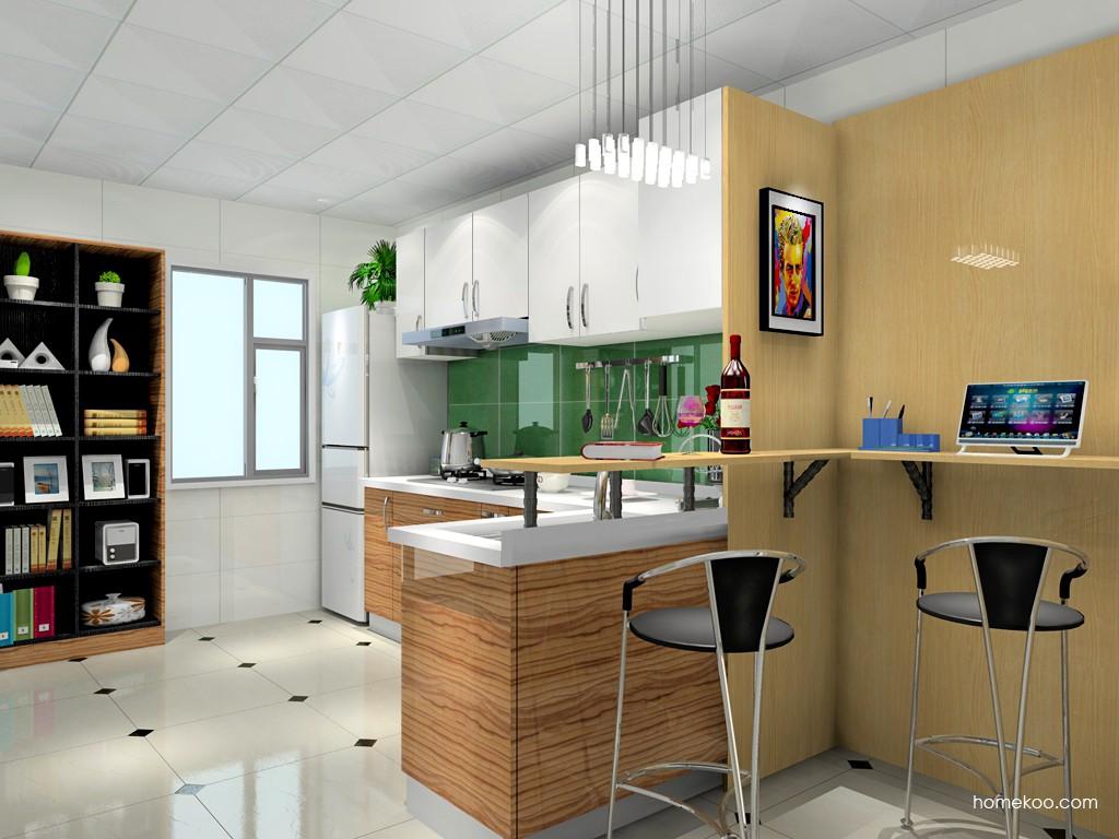 简欧厨房吧台设计概念