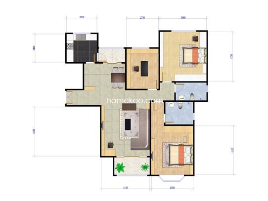 三房两厅两卫 130�O