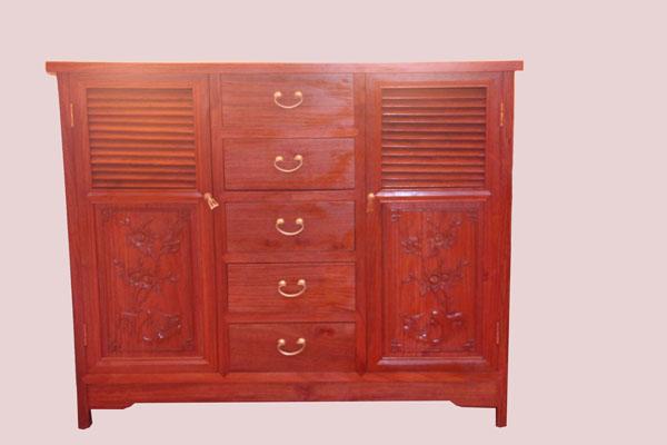 红木家具鞋柜的优点