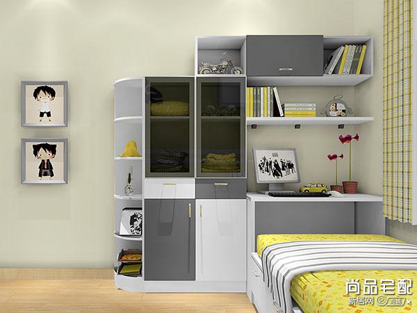 小卧室衣柜书柜