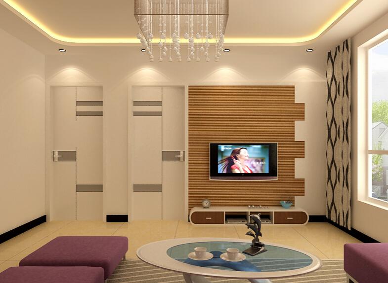 含门的电视背景墙如何设计