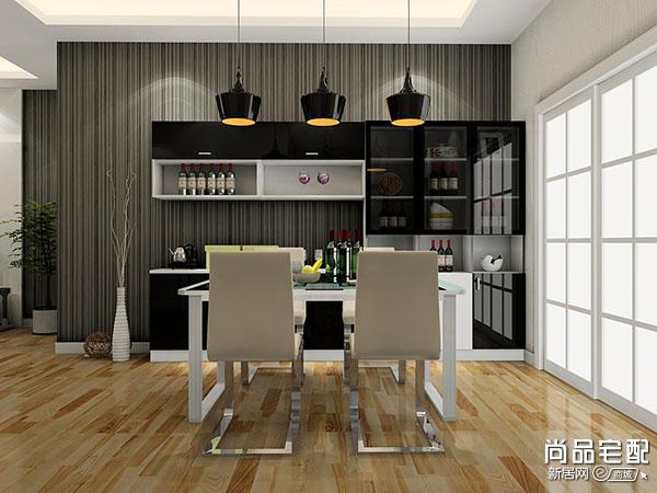 厨房和餐厅间酒柜隔断效果图
