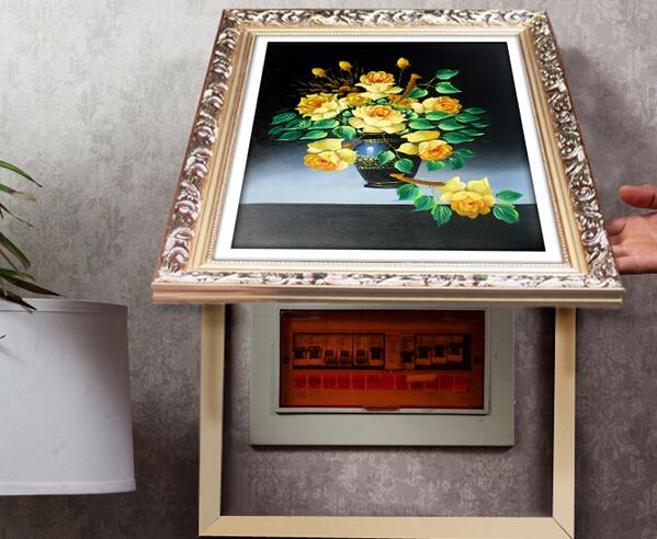 中式电表箱装饰画