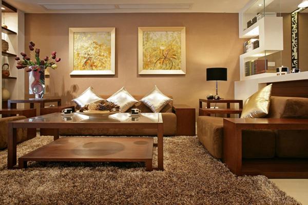 胡桃木实木沙发