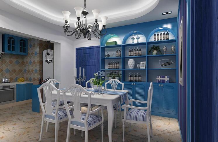 地中海开放厨房设计方案