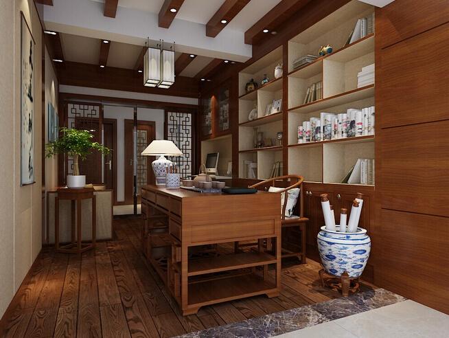 美式客厅书房隔断