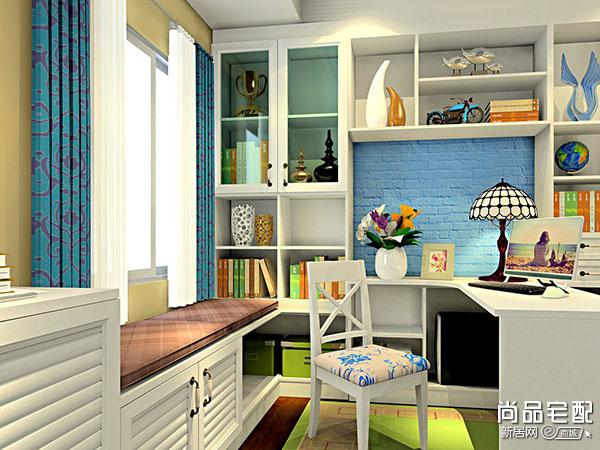 卧室组合书柜图片欣赏