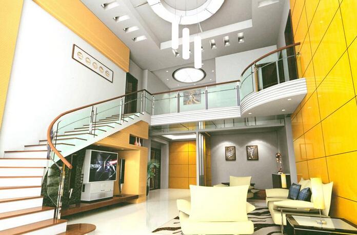 旋转楼梯客厅的实用性