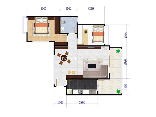 峰景组团04两房两厅89�O