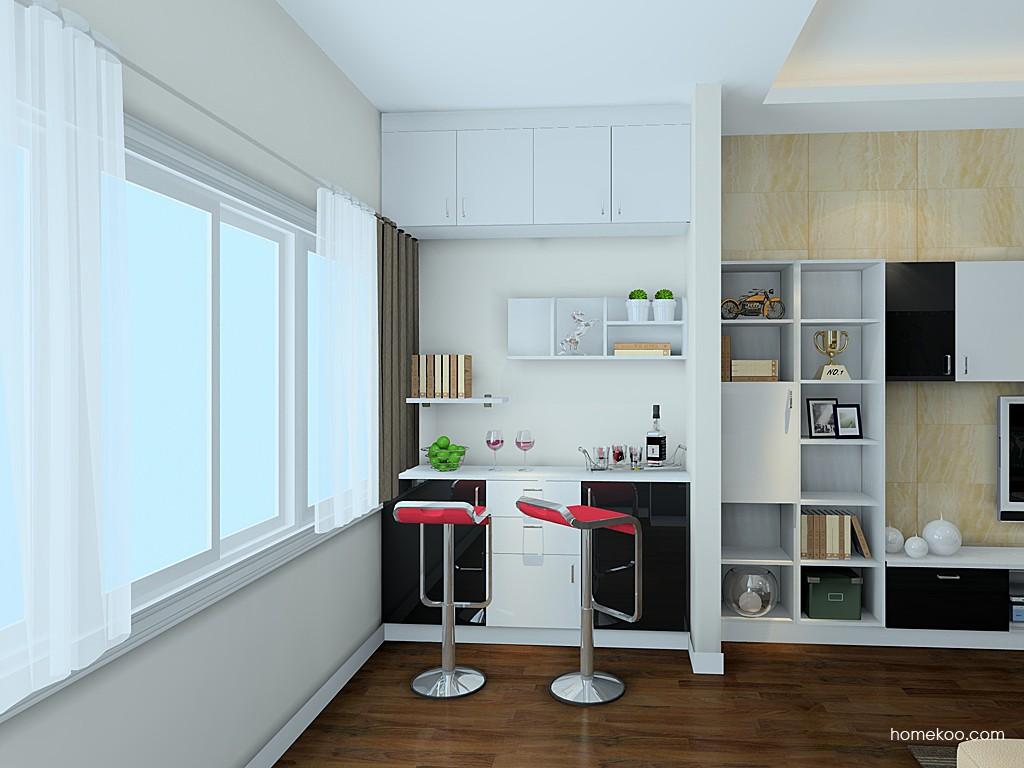 室内酒柜吧台设计效果图