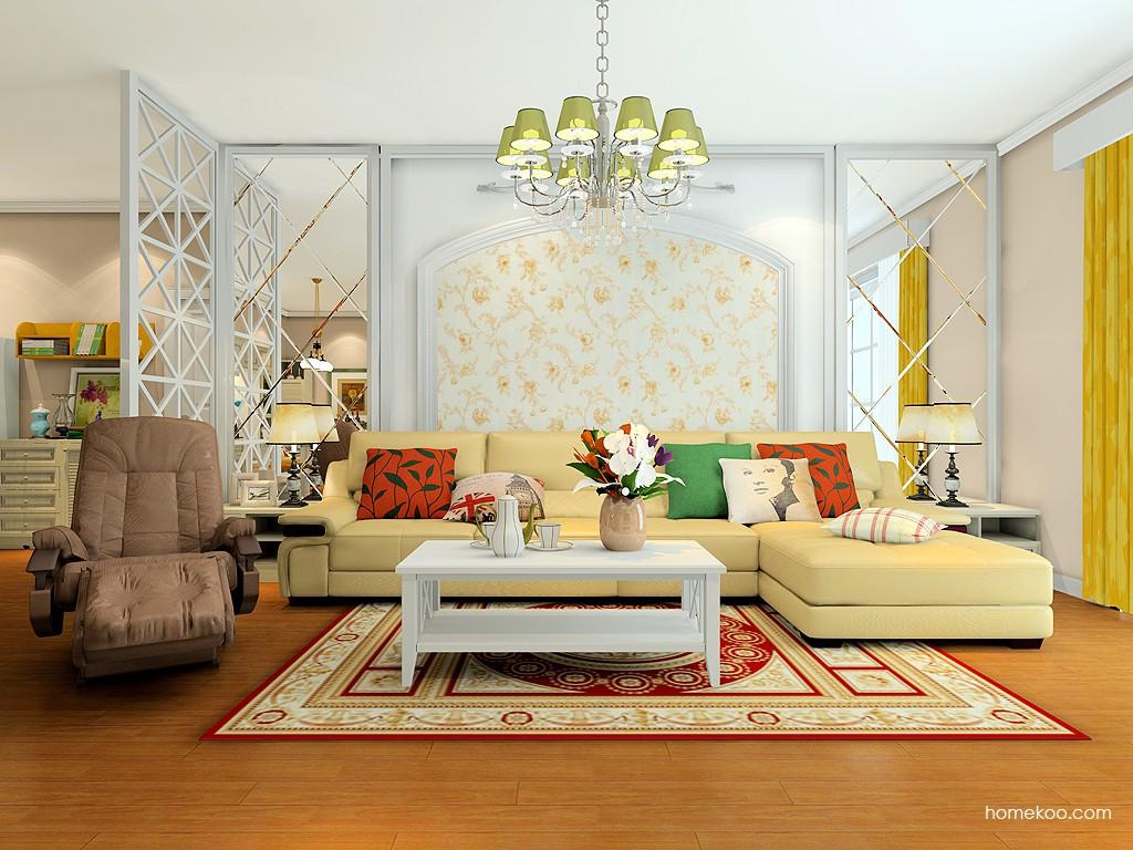 沙发背景墙效果图简欧图片欣赏