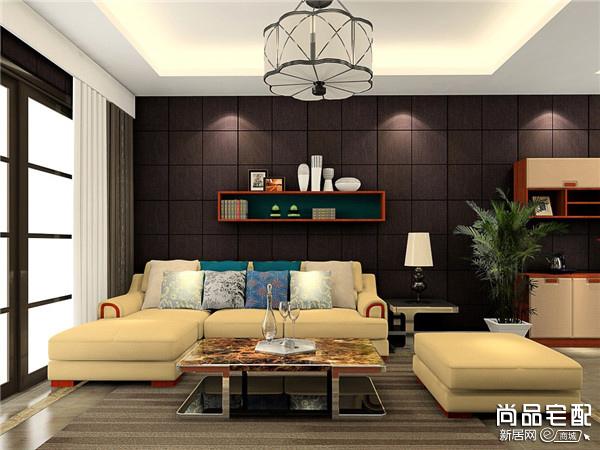 客厅木沙发