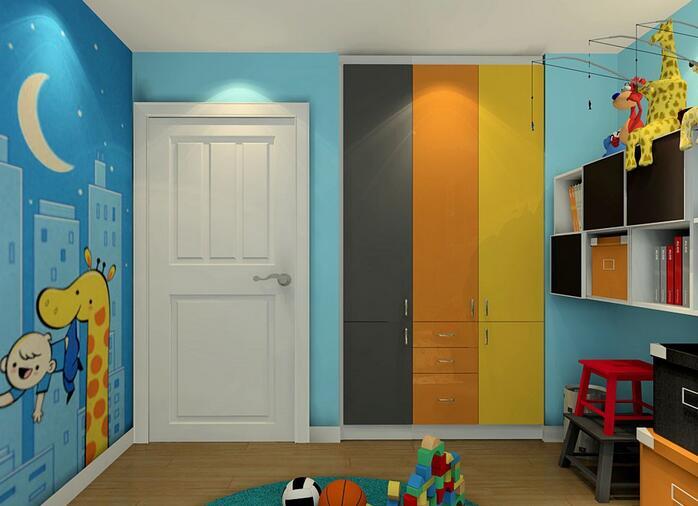 儿童实木衣柜图片