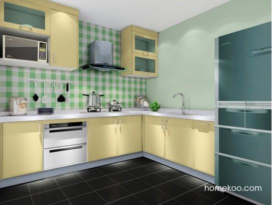 厨房色彩搭配效果图