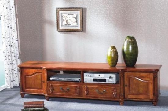 客厅实木电视柜图片欣赏