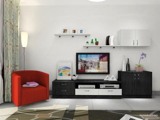 客厅欧式实用组合电视柜欣赏
