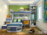 儿童床图片上下两层设计效果图