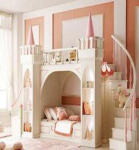 儿童房滑梯儿童床图片 带滑梯的儿童床