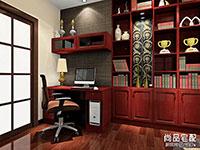 书橱书桌设计图2016 书桌书柜组合设计图