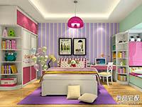 儿童房效果图女孩风格图片