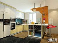 开放式厨房吧台图片