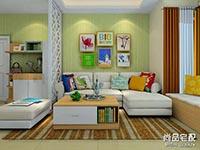 客厅兼书房装修效果图