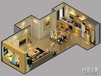 厨房与餐厅酒柜隔断装修效果图