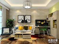 小户型客厅兼书房如何设计