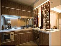中式厨房橱柜图片大全2017