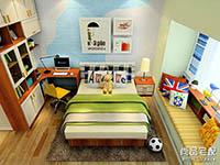 时尚儿童卧室衣柜装修效果图