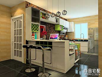 怎么做开放式厨房吧台装修效果图的呢