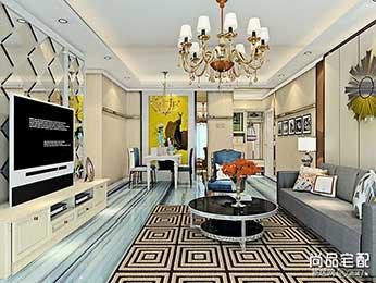 客厅吊灯造型装修搭配效果图